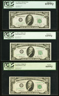 Fr. 2010-G $10 1950 Federal Reserve Note. PCGS Gem New 65PPQ; Fr. 2011-A $10 1950A Federal Reserve Note. PCGS Choice New...