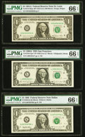 Back Plate 129 Error Fr. 1912-H $1 1981A Federal Reserve Note. PMG Gem Uncirculated 66 EPQ; Face Plate 106 Erro... (Tota...