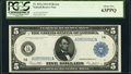 Fr. 847a $5 1914 Federal Reserve Note PCGS Choice New 63PPQ