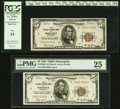 Fr. 1850-I $5 1929 Federal Reserve Bank Notes. Two Examples. PMG Very Fine 25; PCGS Fine 15. ... (Total: 2 notes)