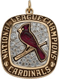 Baseball Collectibles:Others, 2004 St. Louis Cardinals National League Champions Pendant...