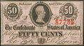 Confederate Notes:1863 Issues, T63 50 Cents 1863 PF-5 Cr. Unlisted Crisp Uncirculated.. ...