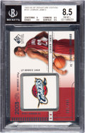Basketball Cards:Singles (1980-Now), 2003 SP Signature Edition LeBron James #101 BGS NM-MT+ 8.5 - #081/499....