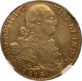 Colombia, Colombia: Ferdinand VII gold 8 Escudos 1816/4 NR-JF AU50 NGC,...