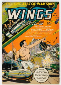 Wings Comics #29 (Fiction House, 1943) Condition: FN-