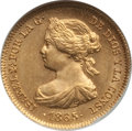 Spain: Isabel II 2 Escudos 1865 MS65 NGC