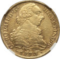 Colombia, Colombia: Charles III gold 8 Escudos 1773 P-JS AU Details (Scratches) NGC,...