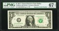 Small Size:Federal Reserve Notes, Repeater Serial Number 00450045 Fr. 3004-K $1 2017 Federal Reserve Note. PMG Superb Gem Unc 67 EPQ.. ...