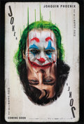 "Movie Posters:Crime, Joker (Warner Bros., 2019). Rolled, Very Fine/Near Mint. Recalled One Sheet (27"" X 39.75"") DS Teaser. Crime.. ..."