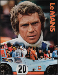 """Le Mans (Cinema Center, 1971). Rolled, Very Fine-. Gulf Promotional Poster (17"""" X 22""""). Sports"""