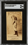 Baseball Cards:Singles (Pre-1930), 1887 N175 Type 2 Gypsy Queen California Brown (Pose #45-3) SGC Good 2 - The Only Graded Example! ...