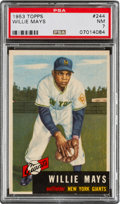 Baseball Cards:Singles (1950-1959), 1953 Topps Willie Mays #244 PSA NM 7....