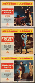 "Movie Posters:Romance, Funny Face (Paramount, 1957). Fine/Very Fine. Lobby Cards (3) (11"" X 14""). Romance.. ... (Total: 3 Items)"