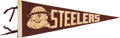 Football Collectibles:Others, Circa 1950's Pittsburgh Steelers Pennant - One of Few Known!...