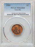 1909 1C MS64 Red and Brown PCGS. PCGS Population: (497/327). NGC Census: (263/300). CDN: $26 Whsle. Bid for NGC/PCGS MS6...