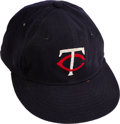 Baseball Collectibles:Hats, Mid-1970's Rod Carew Game Worn & Signed Minnesota Twins Cap with Paul Hill Provenance....