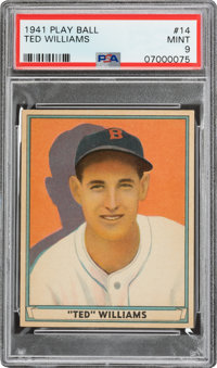 1941 Play Ball Ted Williams #14 PSA Mint 9 - None Higher