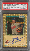 Baseball Cards:Singles (1970-Now), 2011 Bowman Chrome Draft Prospect Autograph Superfractor Francisco Lindor 1/1 #BCAP-FL, PSA Mint 9....