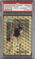 Baseball Cards:Singles (1970-Now), 2010 Bowman Chrome Draft Prospect Autograph Superfractor Christian Yelich 1/1 #BDPP78, PSA Mint 9....