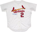 Baseball Collectibles:Uniforms, 1993 Red Schoendienst Game Worn & Signed St. Louis Cardinals Jersey....