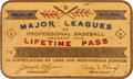 Baseball Collectibles:Others, 1980's Gaylord Perry Lifetime Major League Pass....