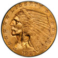 Indian Quarter Eagles: , 1927 $2 1/2 MS64+ PCGS. PCGS Population: (2262/562 and 168/26+). NGC Census: (2628/443 and 78/17+). CDN: $470 Whsle. Bid fo...