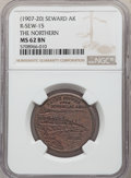 20th Century Tokens and Medals, (1907-20) Token The Northern, Seward, Alaska Copper Token, R-SEW-15, MS62 Brown NGC....