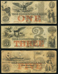 Boston, MA- Cochituate Bank $1; $3; $5 Jan. 1, 1852 Fine or Better. ... (Total: 3 notes)