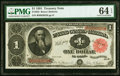 Large Size:Treasury Notes, Fr. 352 $1 1891 Treasury Note PMG Choice Uncirculated 64 E...