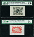 Fractional Currency:Third Issue, Fr. 1236SP 5¢ Third Issue Wide Margin Face Specimen PMG Gem Uncirculated 65 EPQ;. Fr. 1236SP 5¢ Third Issue Wide Margin Re... (Total: 2 notes)