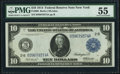 Fr. 908 $10 1914 Federal Reserve Note PMG About Uncirculated 55