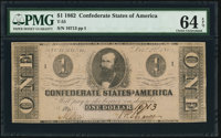 T55 $1 1862 PF-2 Cr. 397 PMG Choice Uncirculated 64 EPQ