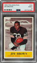 Football Cards:Singles (1960-1969), 1964 Philadelphia Jim Brown #30 PSA Mint 9 - Only One Higher....