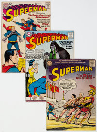 Superman #112, 115, and 127 Group (DC, 1957-59) Condition: Average VG.... (Total: 3 Comic Books)