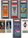 Football Collectibles:Tickets, 1974-2015 Super Bowl Full PSA Graded and Ungraded Tickets Lot of 31. ...