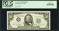 Fr. 2107-F $50 1950 Mule Federal Reserve Note. PCGS Choice New 63PPQ