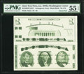 Giori Washington Test Note Vertical Pair PMG About Uncirculated 55 EPQ