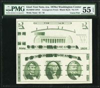 Giori Press Test Note Washington at Center Uncut Face and Back Pair ND (1976) Rothberg RGMBW1/0NS PMG About Uncirculated...