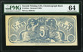 Confederate Notes:Group Lots, Confederate Chemicograph Second Printing $5 circa 1883-84 Bertram C269b PMG Choice Uncirculated 64.. ...