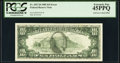 Error Notes:Offsets, Full Face to Back Offset Error Fr. 2027-D $10 1985 Federal Reserve Note. PCGS Extremely Fine 45PPQ.. ...