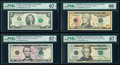 2009 Federal Reserve Star Notes PMG Graded. Fr. 3000-D* $1 Gem Uncirculated 66 EPQ; Fr. 1939-K* $2 Superb Gem Unc 67...