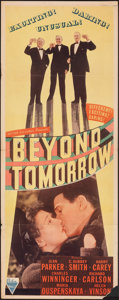 "Movie Posters:Fantasy, Beyond Tomorrow (Astor, R-1940s). Folded, Fine/Very Fine. Insert (14"" X 36""). Fantasy.. ..."
