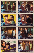 """Movie Posters:Mystery, Love from a Stranger (Eagle Lion, 1947). Very Fine+. Lobby Card Set of 8 (11"""" X 14"""") with Original Studio Envelope. Mystery.... (Total: 9 Items)"""