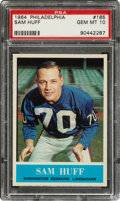 Football Cards:Singles (1960-1969), 1964 Philadelphia Sam Huff #185 PSA Gem Mint 10....