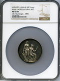 U.S. Mint Medals, Undated Massachusetts Horticultural Society, J-AM-40, MS61 Prooflike NGC. Silver, 51 mm. The central reverse is profession...