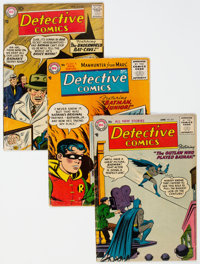 Detective Comics #231, 232, and 242 Group (DC, 1956-57) Condition: Average VG.... (Total: 3 )