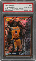 Basketball Cards:Singles (1980-Now), 1996 Finest Refractor Kobe Bryant (With Coating) #74 PSA Gem Mint 10. ...