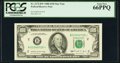 Small Size:Federal Reserve Notes, Fr. 2172-B* $100 1988 Federal Reserve Note. PCGS Gem New 66PPQ.. ...