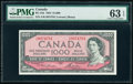 World Currency, Canada Bank of Canada $1000 1954 Pick 83d BC-44d PMG Choice Uncirculated 63 EPQ.. ...