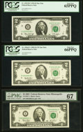 Small Size:Federal Reserve Notes, $2 Federal Reserve Notes.. Fr. 1935-H* 1976 PCGS Gem New 65PPQ;. Fr. 1936-F* 1995 PCGS Gem New 66PPQ;. Fr. 1937-I ... (Total: 6 notes)